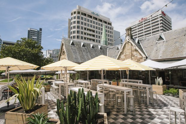 The Greenwood Hotel, North Sydney, courtyard