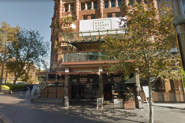 King's Cross Hotel, Potts Point. Image (c) Google 2019
