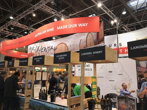 The Wine Australia stand at ProWein 2019