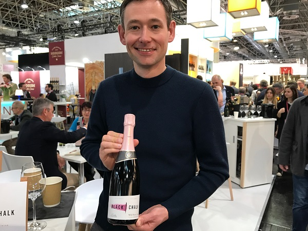 First-time exhibitor Jacob Leadley from the UK's Black Chalk Wine is hoping to secure distribution in Australia for his sparkling wines.