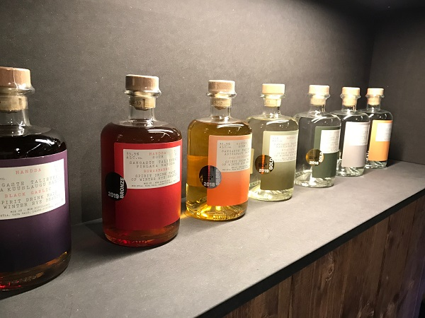 Craft spirits, including these flavoured rye brandies from Moe Distillery in Estonia, were also on show at ProWein this year.