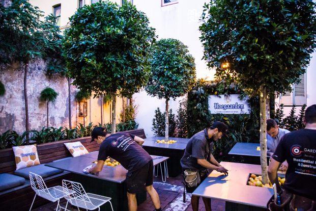 The Observer Hotel, Beer Gaarden Blitz underway