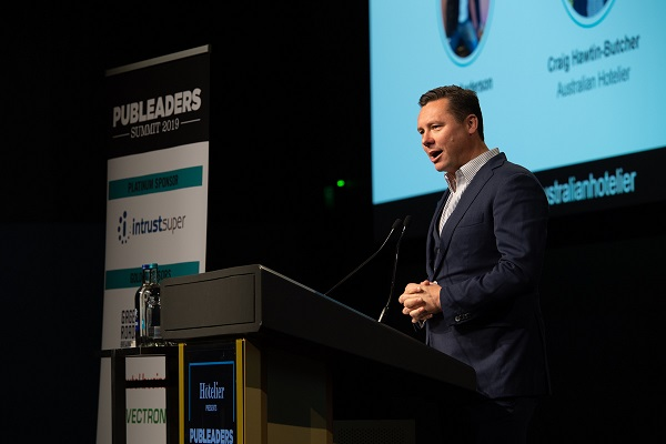 MC Kent Anderson at Pub Leaders Summit 2019