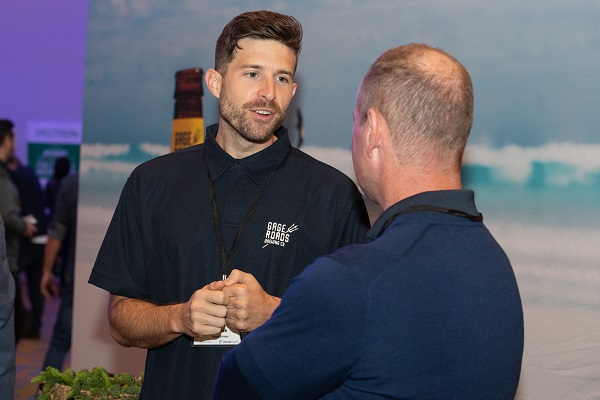 Pub Leaders Summit 2019 sponsor Gage Roads Brewing Co representative Kyle Petrie and delegate