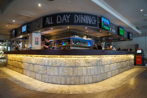 The Botany Bay Hotel bar area, Banksmeadow