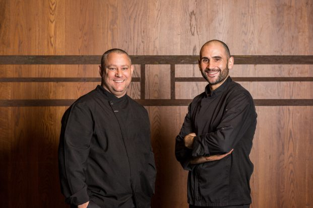 From left, Momento Hospitality Group Executive Chef, Sam Youngs and Sarino's Executive Head Chef, Joe Cavallo