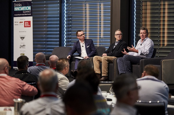 TheShout editor Andy Young led a discussion on sustainability with Lion's Justin Merrell and James Robson from Ross Hill Wines.