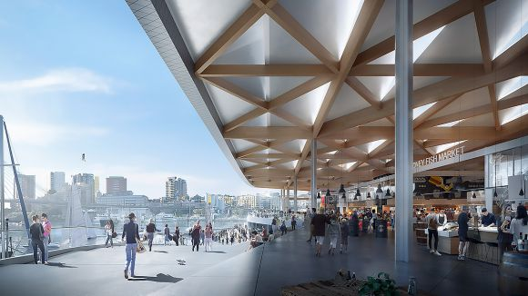Sydney Fish Market design to provide a new focal point on the harbour