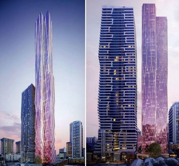 One up, one down in the residential tower stakes