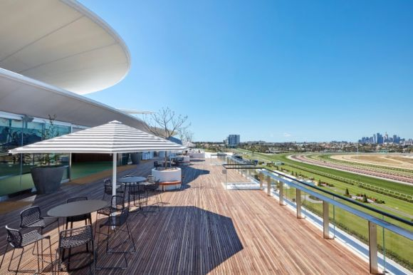 Bates Smart Club Stand for Victoria Racing Club opens for Melbourne Cup Carnival