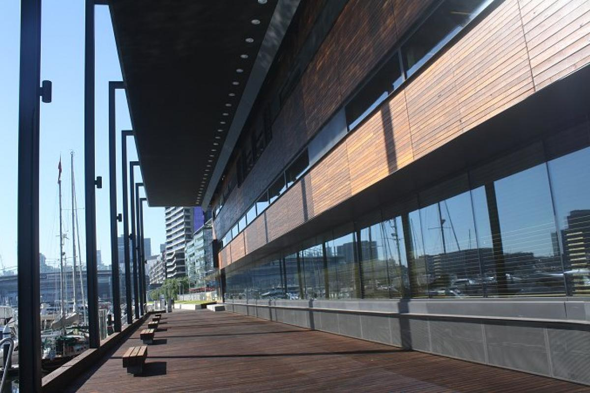 Talking up Docklands' newest showpiece