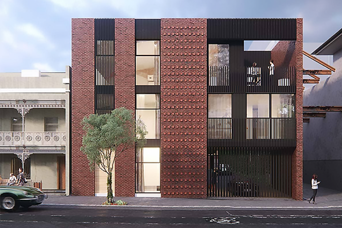 Leveson Place draws on North Melbourne's industrial character