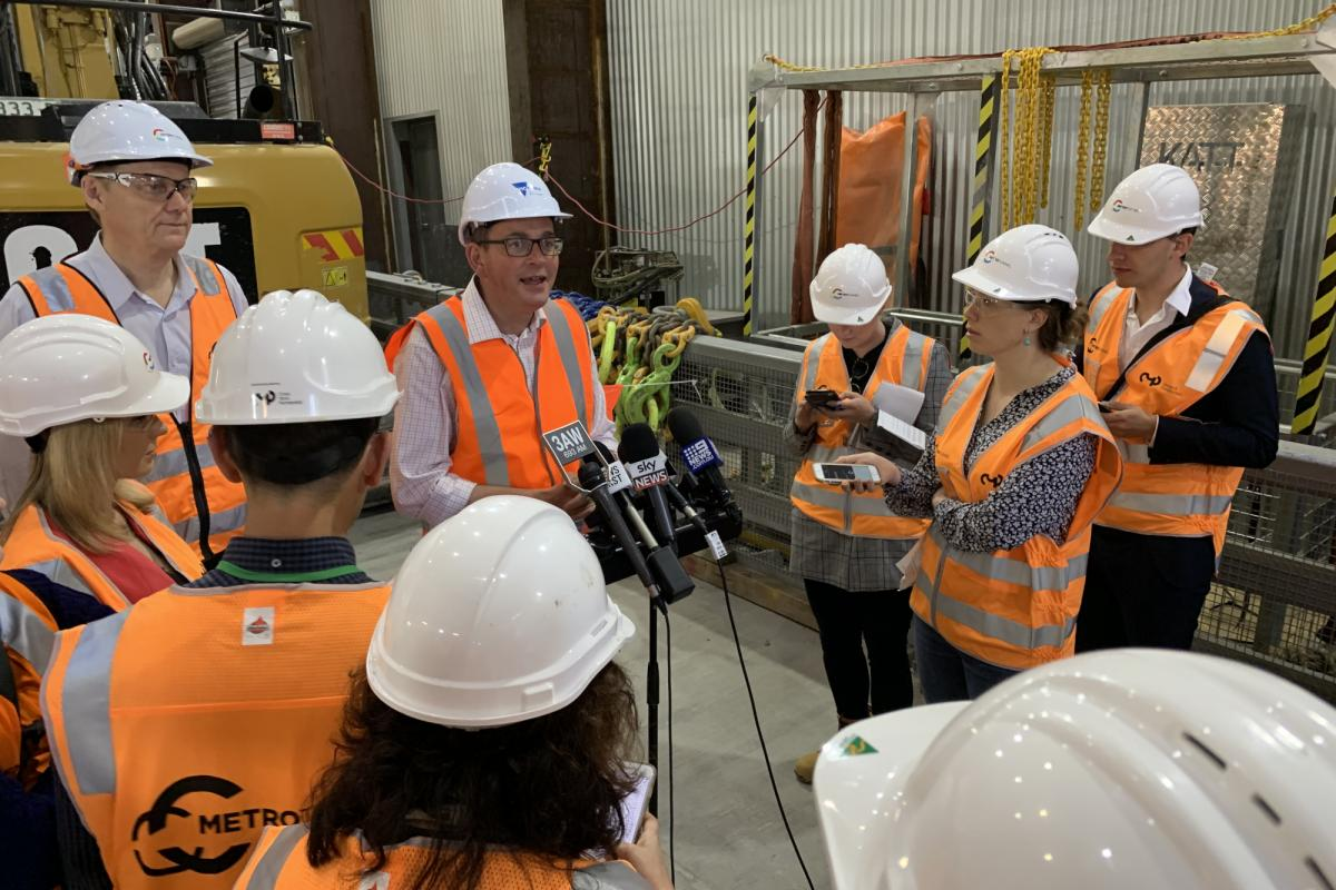 CBD Metro tunnel station construction begins