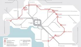 Victoria's Big Build Image of the Suburban Rail Loop Superimposed over Melbourne's Existing Suburban Rail System.