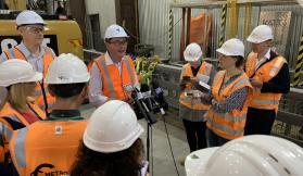 CBD Metro tunnel station construction begins