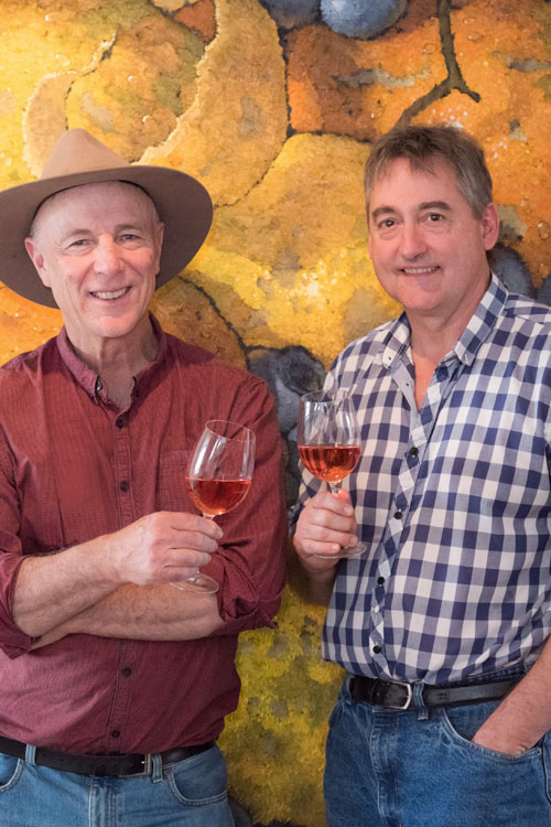 Hahndorf Hill co-owners, Larry Jacobs (left) and Marc Dobson