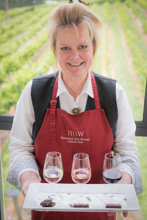 Hahndorf Hill's ChocoVino co-ordinator, Sloan Bendikas