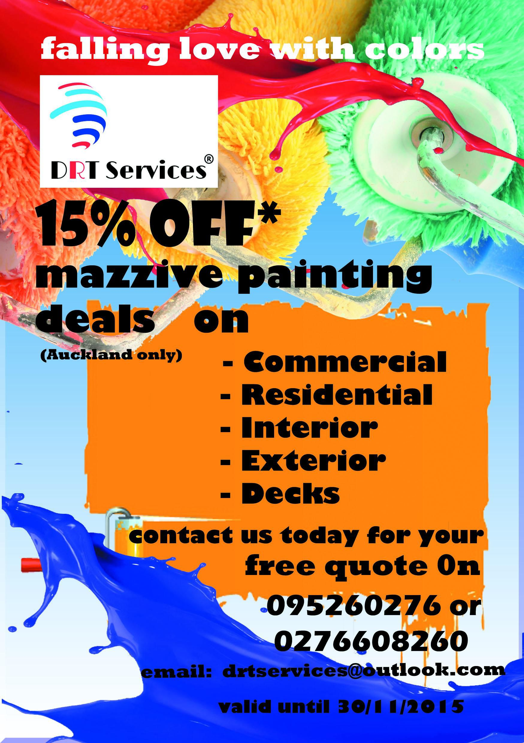 15% off painting deal