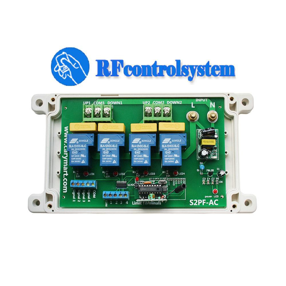 2 Ch Ac 110v 120v 220v 240v Wireless Rf Remote Control Motor Kit