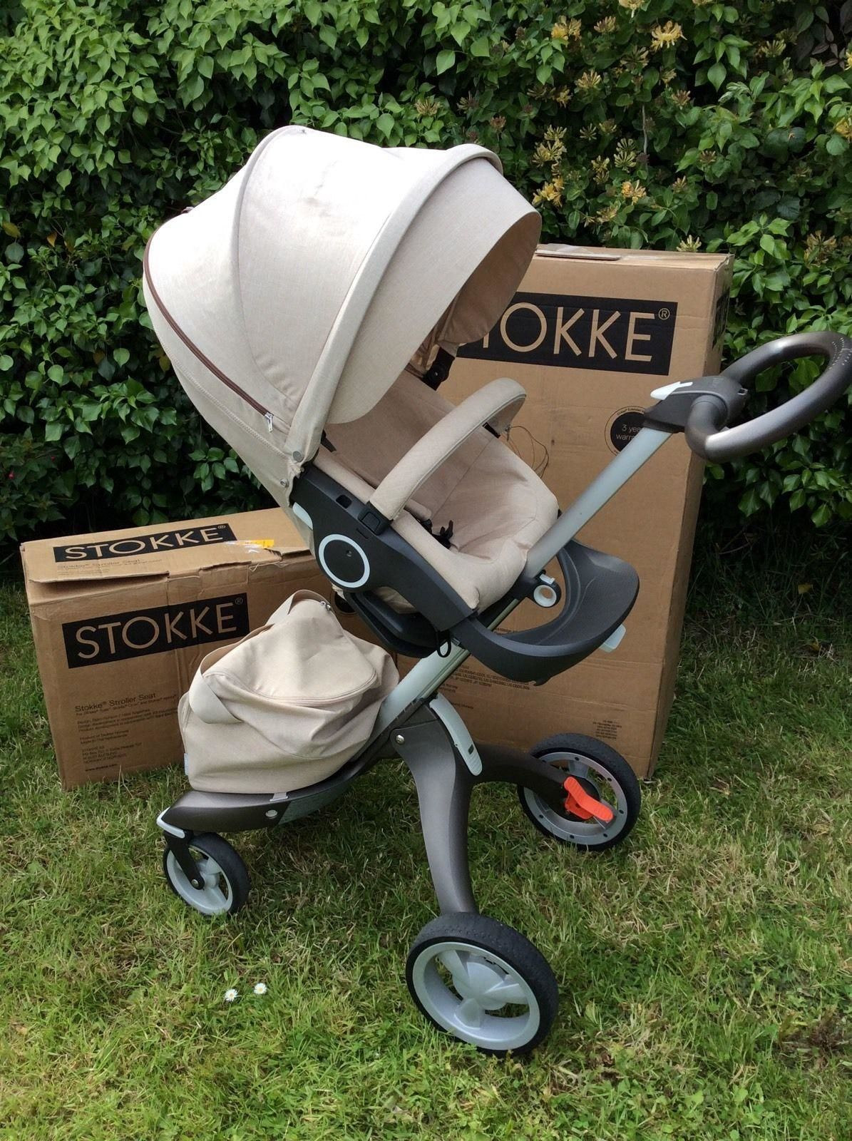 3 IN 1 STOKKE XPLORY V4 WITH WINTER, SUMMER KITS & STOKKE MYCARRIER