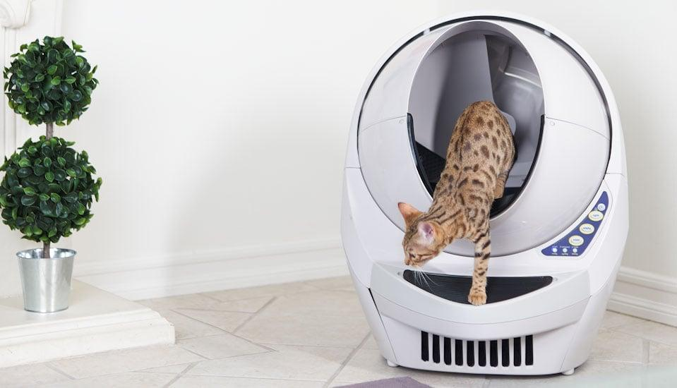Automatic Cat Litter box for self cleaning