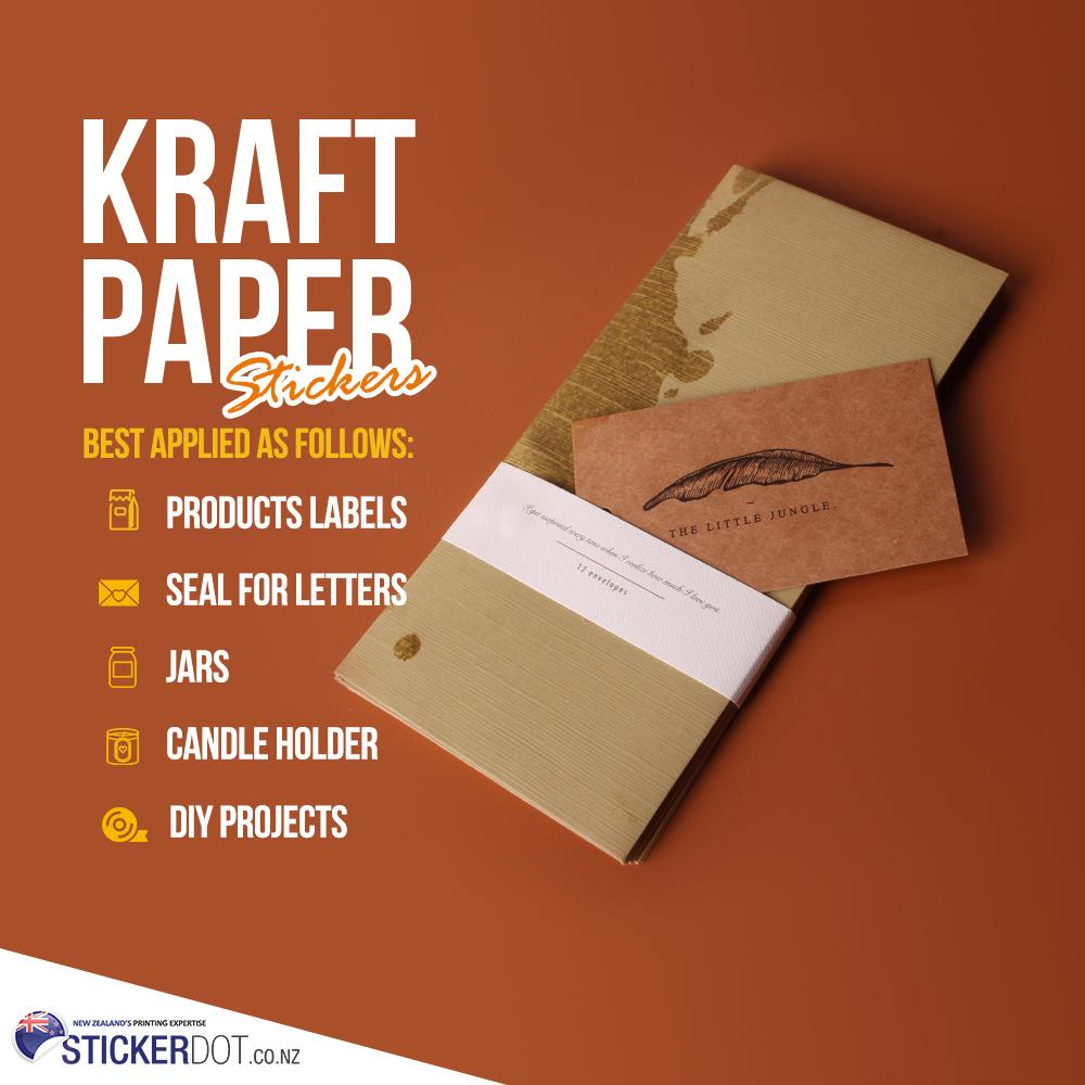 Best Custom Kraft Stickers Printing Online