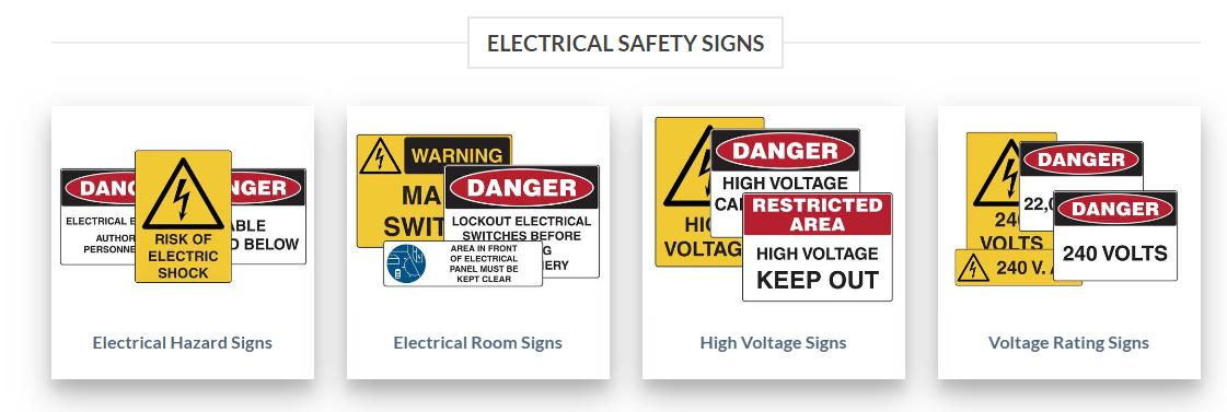 Best Electrical Safety and Warning Signs at Low Rate