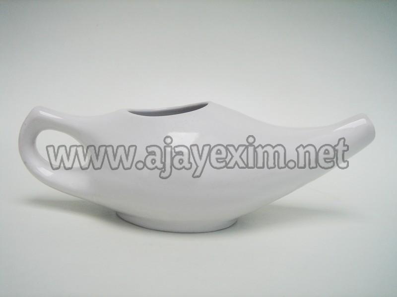 Ceramic White Neti Pot