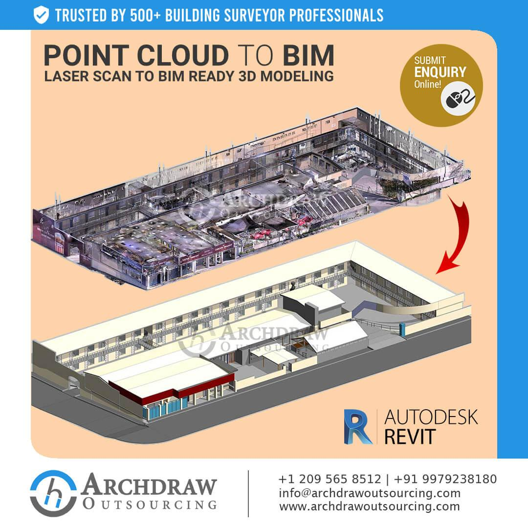 Contact us for excellent Point Cloud to BIM ready 3D model services
