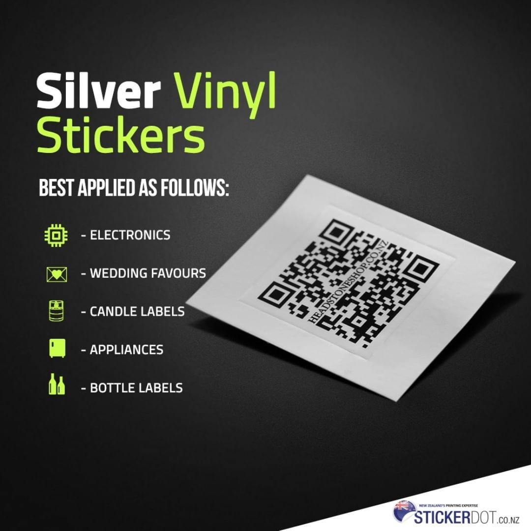 Custom Silver Vinyl Stickers Printing in Auckland, NZ