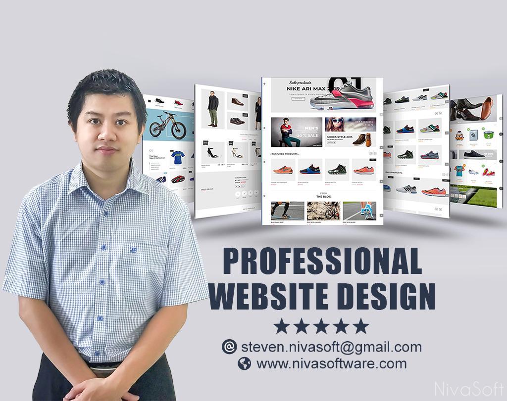 Develop A Modern Website,E Commerce Website Or Redesign Website