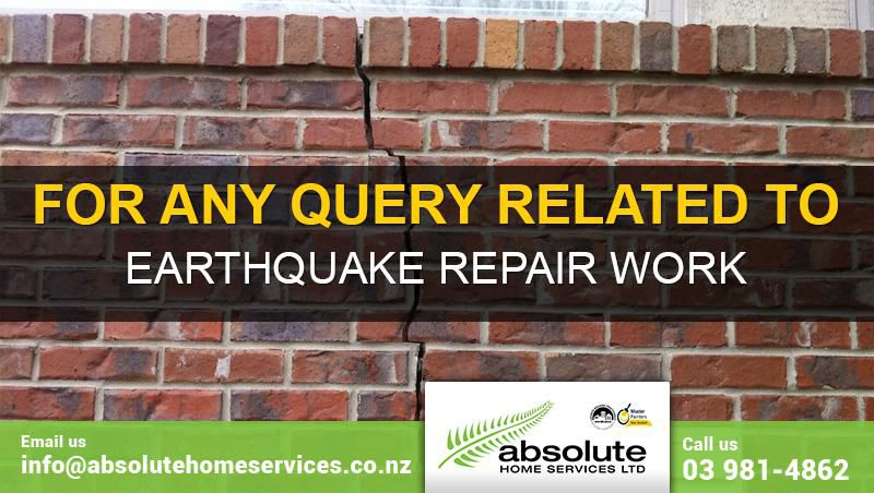 Earthquake Repairs in Christchurch, NZ by Absolute Home Services Ltd. (AHS)