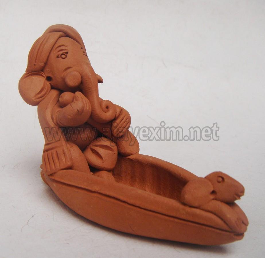 Handmade Boat Ganesha Statue