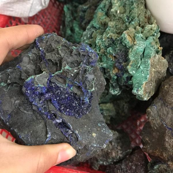 High quality natural azurite and malachite mineral