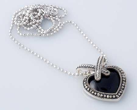 Lauren Lee Open Crystal Hearts Necklace - Silver