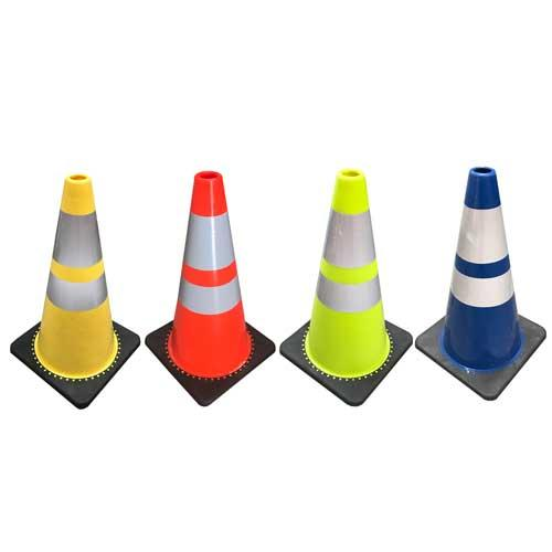 Online Coloured Cones 700MM Black Base at Best Price