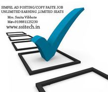 Online Jobs, Part time Jobs, Ad Post Jobs Earn Rs.1000/- or $20 Per day