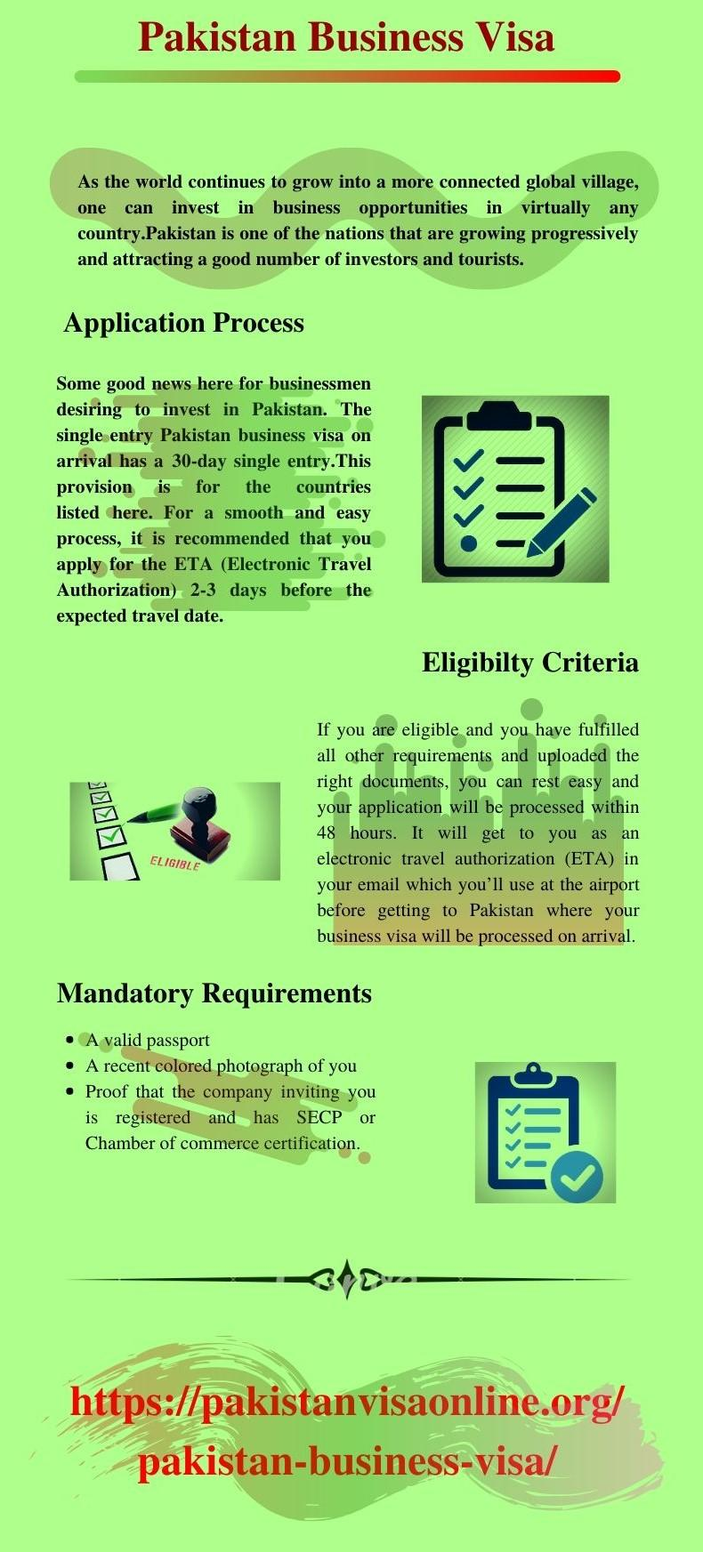 Pakistan Business Visa | Online Business Visa
