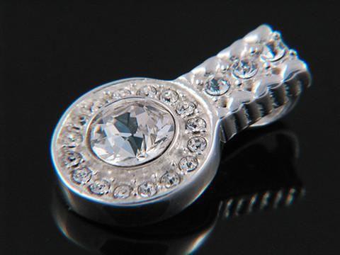 Sterling Silver Pendant - Halogen Crystal