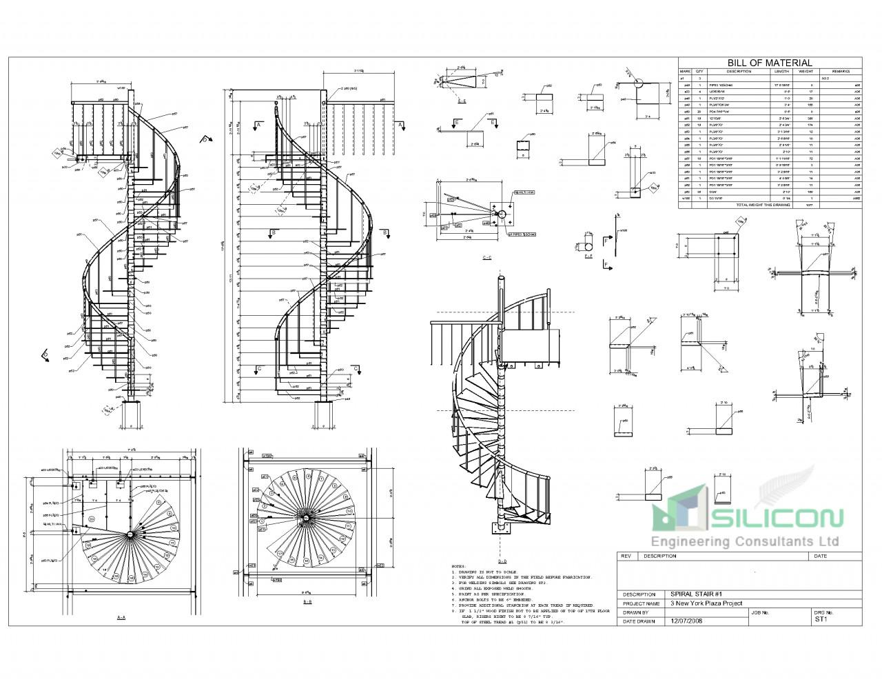 structural steel shop drawing Service Christchurch - Silicon Engineering Consultants Limited.