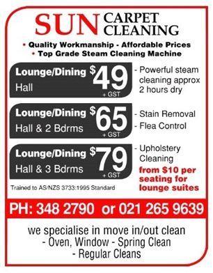 Sun Carpet Cleaning: Hire Professional Carpet Cleaner Services Christchurch