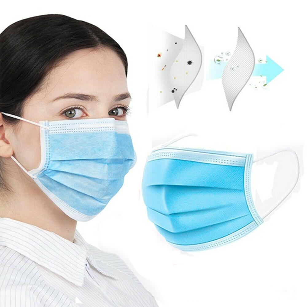 Surgical Face Mask Disposable Medical Protective Coronavirus 150Pcs