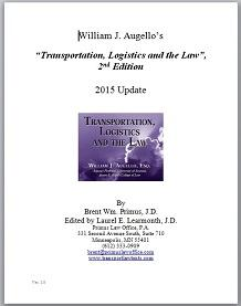 Transportation Logistics and the Law - 2015 Update