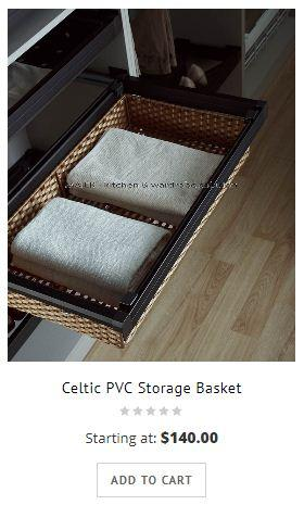 Wardrobe Sliding Storage Basket