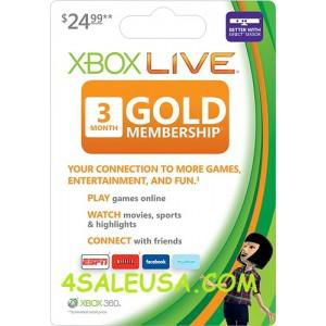 Xbox Live 3 Months Subscription US Microsoft Gold Card