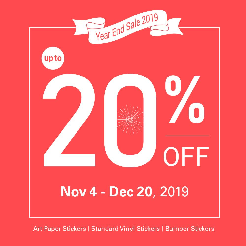 YEAR END SALE 2019: Up to 20% OFF 🎁