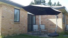 Dinning tables, outdoor umbrella and hand lawnmower