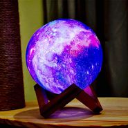 Hot!! Smart Galaxy Led Light 3D Print Moon Lamp With 16 Colours Change All in 1