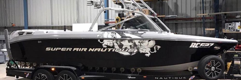 Super Air Nautique... Boat Wrap, Text & Decals