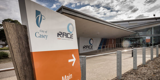 Main entrance to Casey RACE